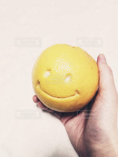 リンゴを持っている手の写真・画像素材[1198121]