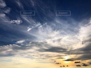 空,夕日,奈良県