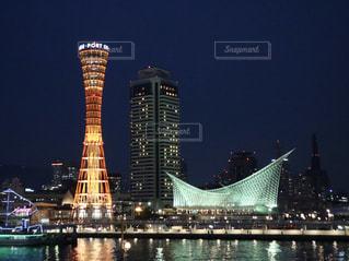 夜の神戸の写真・画像素材[1017489]