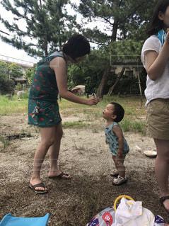 夏,こども,かき氷,ママ