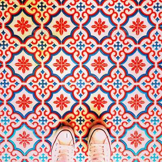 カラフルな床の写真・画像素材[775957]