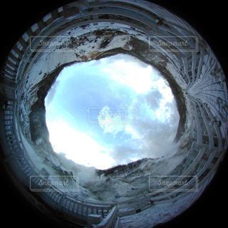 登別温泉地獄谷より360度ビューの写真・画像素材[888610]