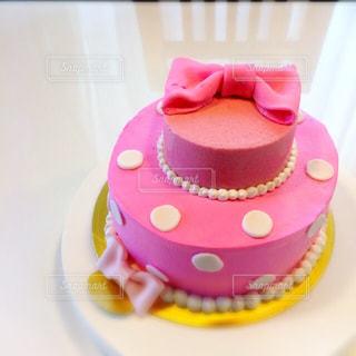 ピンクリボンケーキ♡の写真・画像素材[1022650]
