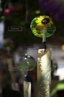 向日葵の風鈴の写真・画像素材[3433941]