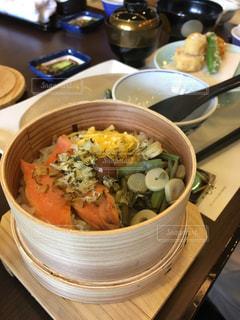 和食,鮭,プレート,せいろ,わっぱ