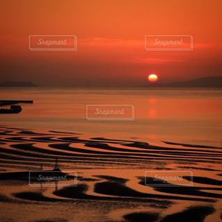 夕景,sunset,サンセット,熊本県,干潟,ocean,御輿来海岸,宇土市