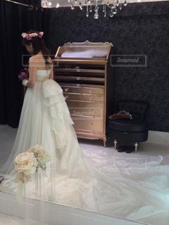 ウェディング ドレスの人の写真・画像素材[798690]