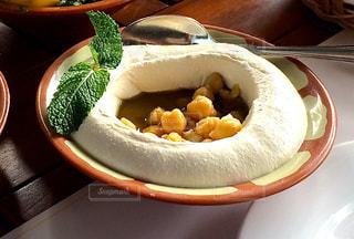 フムス、アラブ料理、ひよこ豆のペーストの写真・画像素材[808219]