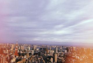 東京タワー周辺をフィルム風での写真・画像素材[1239233]