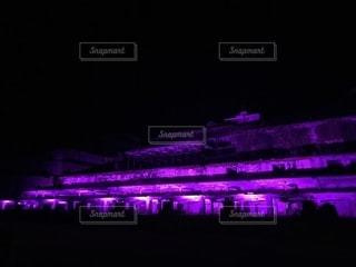 佐渡おすすめ:北沢浮遊選鉱場跡ライトアップの写真・画像素材[1407453]