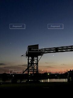 港の夜景の写真・画像素材[1684102]