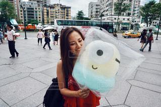 ミニオン綿菓子の写真・画像素材[829626]