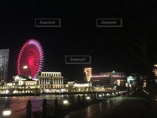 空,夜,夜景,屋外,散歩,光,道,みなとみらい,赤レンガ倉庫,桜木町,お出かけ