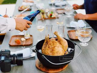 旅行,ごはん,food,パーティー,チキン,グランピング,食欲の秋