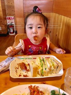 ランチ,エビフライ,野菜サンド,コメダ,3歳