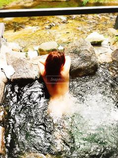 露天風呂 入浴の写真・画像素材[799394]