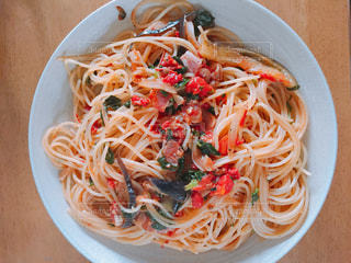 ランチ,トマト,パスタ,バジル,夏野菜