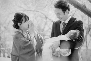 初めての家族写真 - No.823375