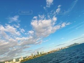 海,空,屋外,海外,ビーチ,雲,水面,ハワイ,リゾート,日中