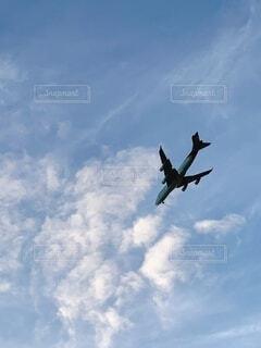 空,屋外,雲,飛行機,飛ぶ,航空機,くもり