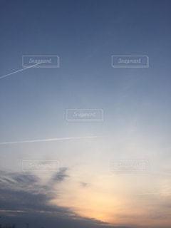 夕日,飛行機