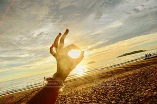 海,空,夕日,海外,雲,海辺,手,夕方,旅行,マレーシア,夕陽,サンセット