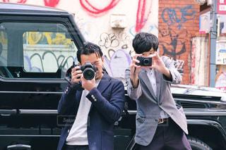 カメラ男子ふたり☆の写真・画像素材[1847364]