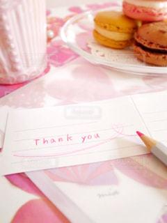 ピンク,手紙,英語,ハート,メッセージ,好き,恋愛,鉛筆,友達,ありがとう,桃色,手書き,紙,Thank you,手描き,ラブレター,手書き文字,Thanks