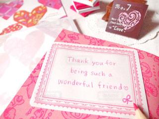 ピンク,手紙,英語,ハート,メッセージ,色鉛筆,好き,恋愛,鉛筆,ありがとう,桃色,手書き,紙,Thank you,手描き,感謝,手書き文字,Thanks