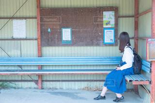 バス停の写真・画像素材[2253307]