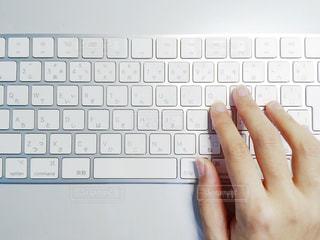 コンピュータのキーボードのクローズアップの写真・画像素材[2405765]