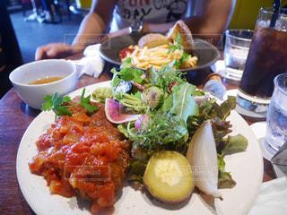 ランチ,野菜,お肉,プレート,ジーライオン