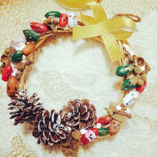 DIY,どんぐり,リース,工作,クリスマスリース,まつぼっくり