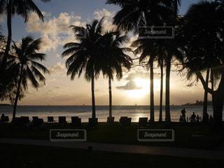 自然,海,夕日,夕陽,ニューカレドニア