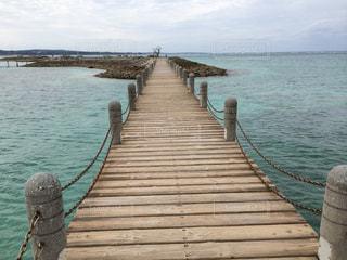 海にかかる橋の写真・画像素材[787611]