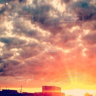 空,夕日,夕焼け,夕陽,sunset,Sky,サンセット,夕焼け雲,自宅から