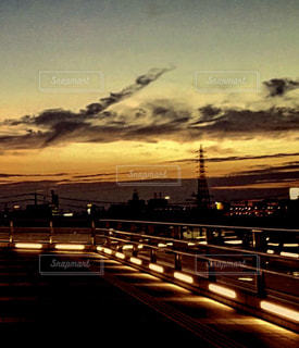 夜の街の景色の写真・画像素材[1307515]