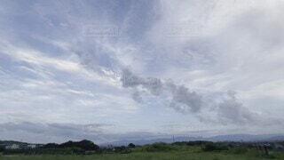 自然,風景,空,屋外,雲,景色,草,樹木,朝,ソラ,夕空,くもり