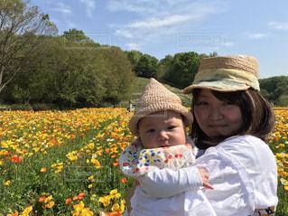 春,爽やか,人物,人,笑顔,赤ちゃん,ポピー,幼児,ベビー,ママと子供