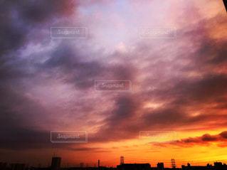 夕日,大阪,雲,夕暮れ