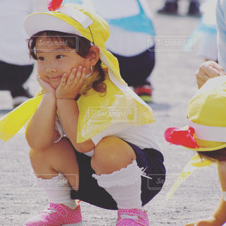運動会の女の子の写真・画像素材[812332]