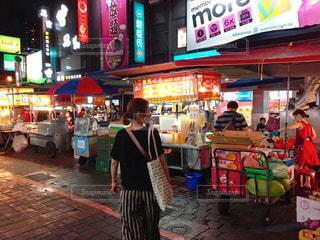 夜景,観光,台湾,夜市,海外旅行