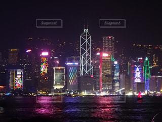 夜景,景色,観光,香港,海外旅行,シンフォニー,チムサアチョイ