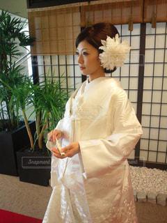 ウェディング ドレスを着ている女性の写真・画像素材[783482]