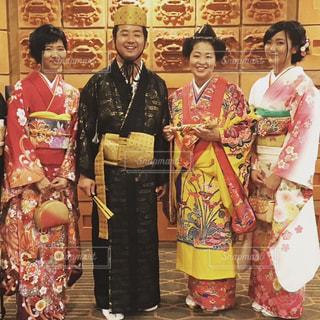 結婚式,沖縄,お祝い,シーサー,琉装