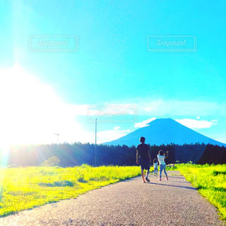 富士山,Camp♡,父と娘たち♡,朝のおさんぽ