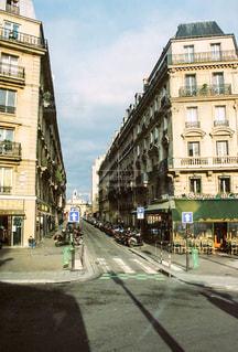 パリの路地の写真・画像素材[1035036]