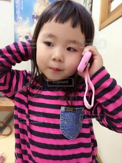 ボーダー,女の子,おもちゃ,Cute,Lee,3歳,スマホで電話
