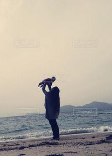 海,景色,赤ちゃん,抱っこ,お散歩,高い高い,ママと子供
