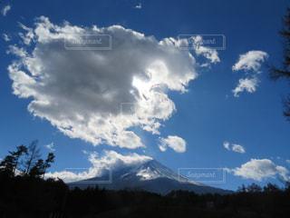 富士山,雲,秋の空
